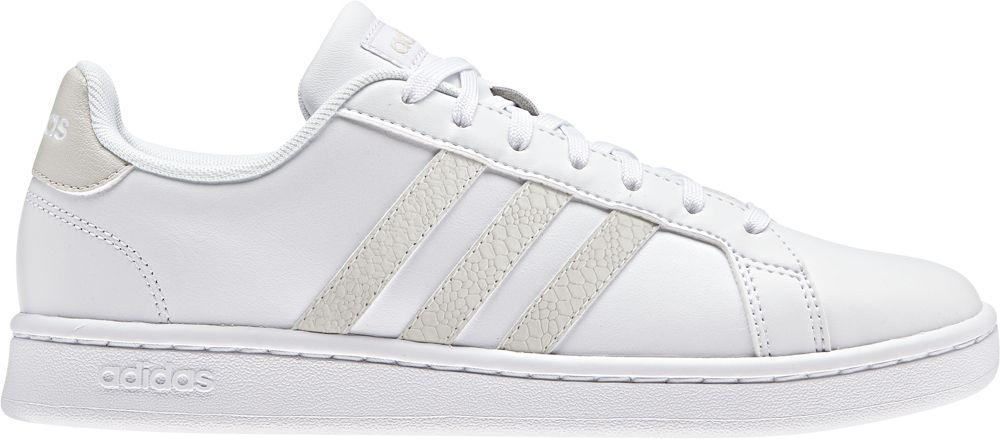 Кроссовки женские Adidas Grand Court, цвет: белый. F36490. Размер 6,5 (38,5)F36490