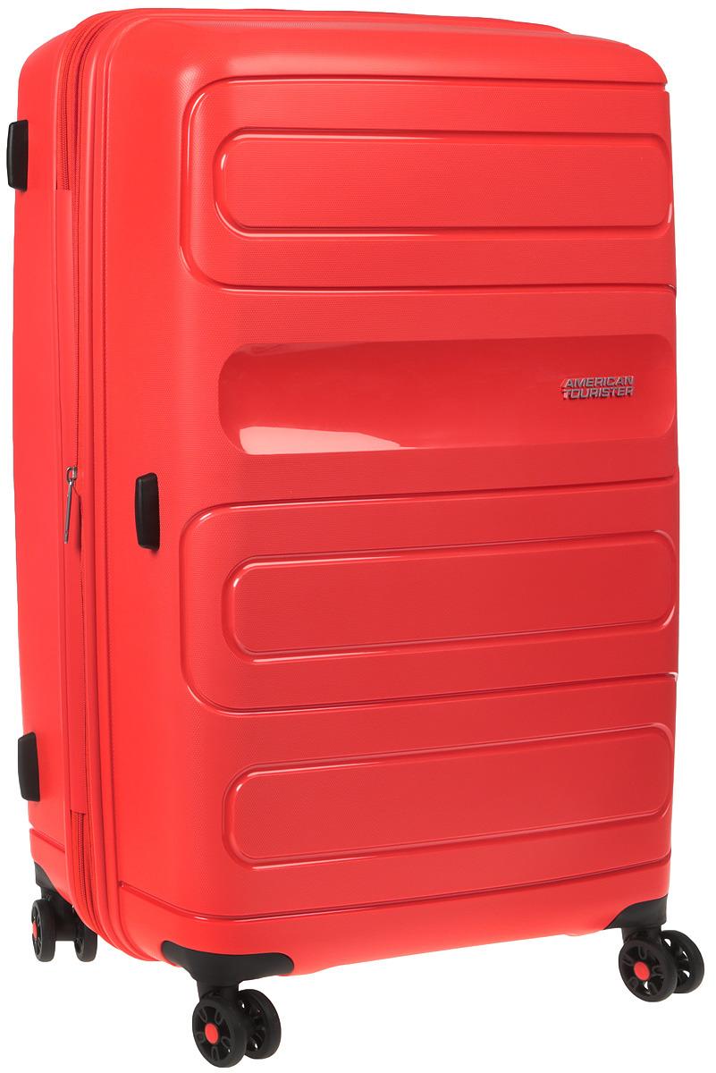 Чемодан American Tourister Sunside, четырехколесный, 51G-00003, красный, 106 л чемодан american tourister sunside четырехколесный 51g 09001 черный 35 л