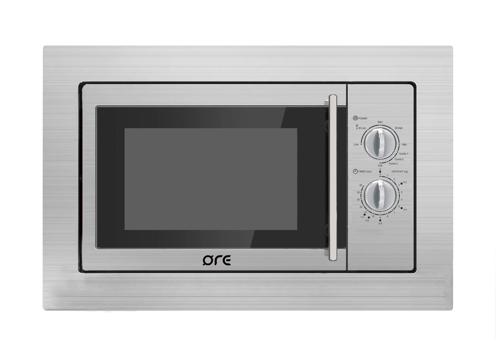 Микроволновая печь ORE MWA20, серый металликBFL554MW0Встраиваемая микроволновая печь ORE MWA20 является надежным помощником на кухне. Стильный внешний вид, современный дизайн с фасадом, изготовленным из высококачественной нержавеющей стали, прекрасно впишется в любое кухонное пространство. Надежность, простое управление и низкая цена - вот что отличает данную модель бренда ORE. Гарантия -2 годаОбъем - 20 л.Размер фасада- 384*595 мм.