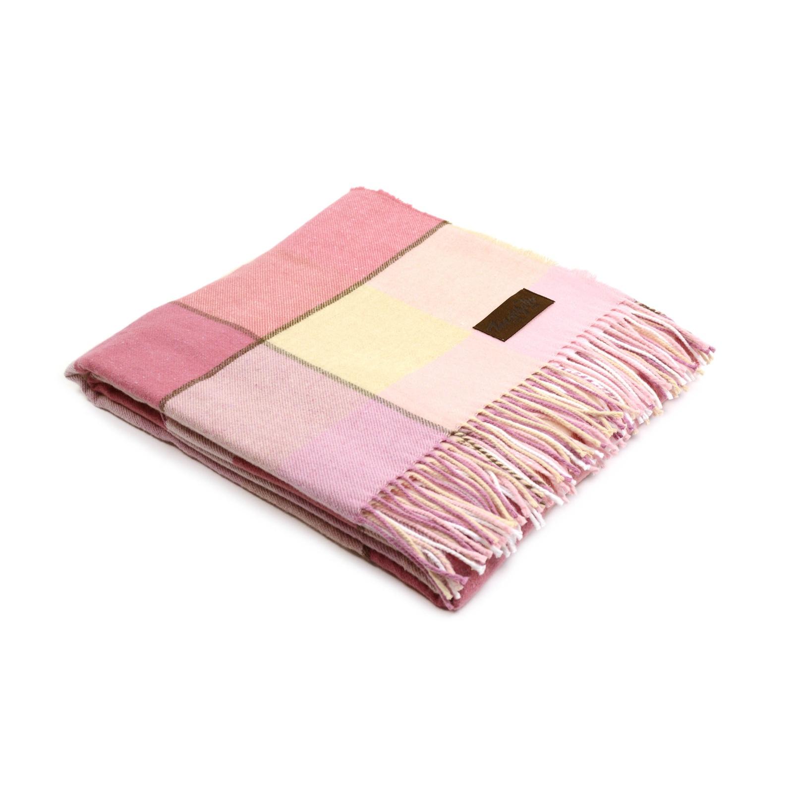 Плед MARZOTTO ALBERT, ALBERT 1, розовый, светло-розовый, бежевый