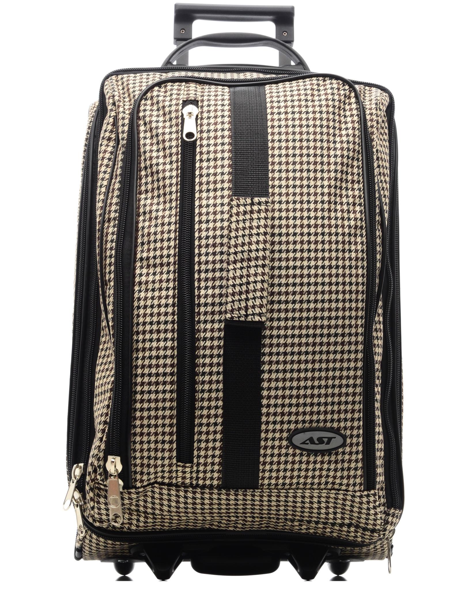 Сумка на колесах AST Сумка-тележка клетка, черный сумка тележка хозяйств на колесах с выдвижной ручкой раз сумки33х23х55 см клетка ассорти 4 цв