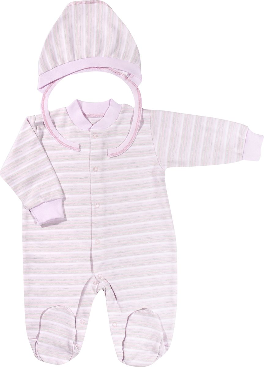 Комплект одежды для девочки Клякса, цвет: розовый, меланж. 39-5261. Размер 6239-5261Комбинезон прекрасно подойдет на любые случаи жизни - не только для сна, но и для дома, на прогулку, в подарок. Изготовлен комбинезон из натурального хлопка, благодаря чему он необычайно мягкий, не раздражает нежную кожу ребенка и хорошо вентилируется. Комбинезон застегивается на кнопочки по всей длине изделия, что позволяет легко переодеть малыша или поменять подгузник. Соответствует особенностям жизни малыша в ранний период, не стесняя и не ограничивая его в движениях. В нем ваш ребенок всегда будет в центре внимания! Дополнен комбинезон чепчиком.
