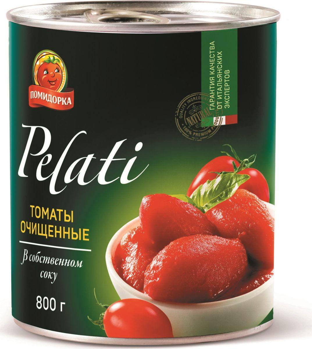 Помидорка Томаты очищенные, 850 мл vegda томаты очищенные италия 425 мл