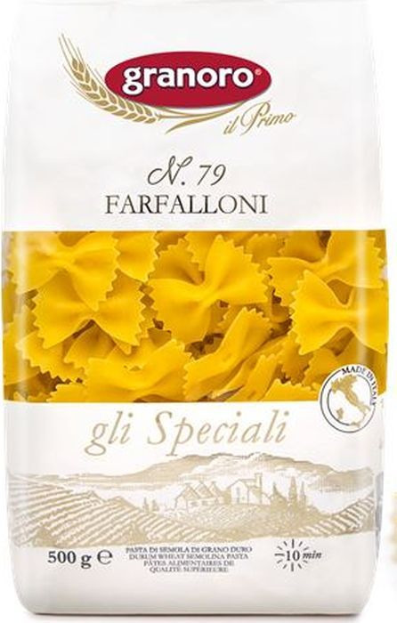 Макароны GranOro Фарфаллони №79, 500 г