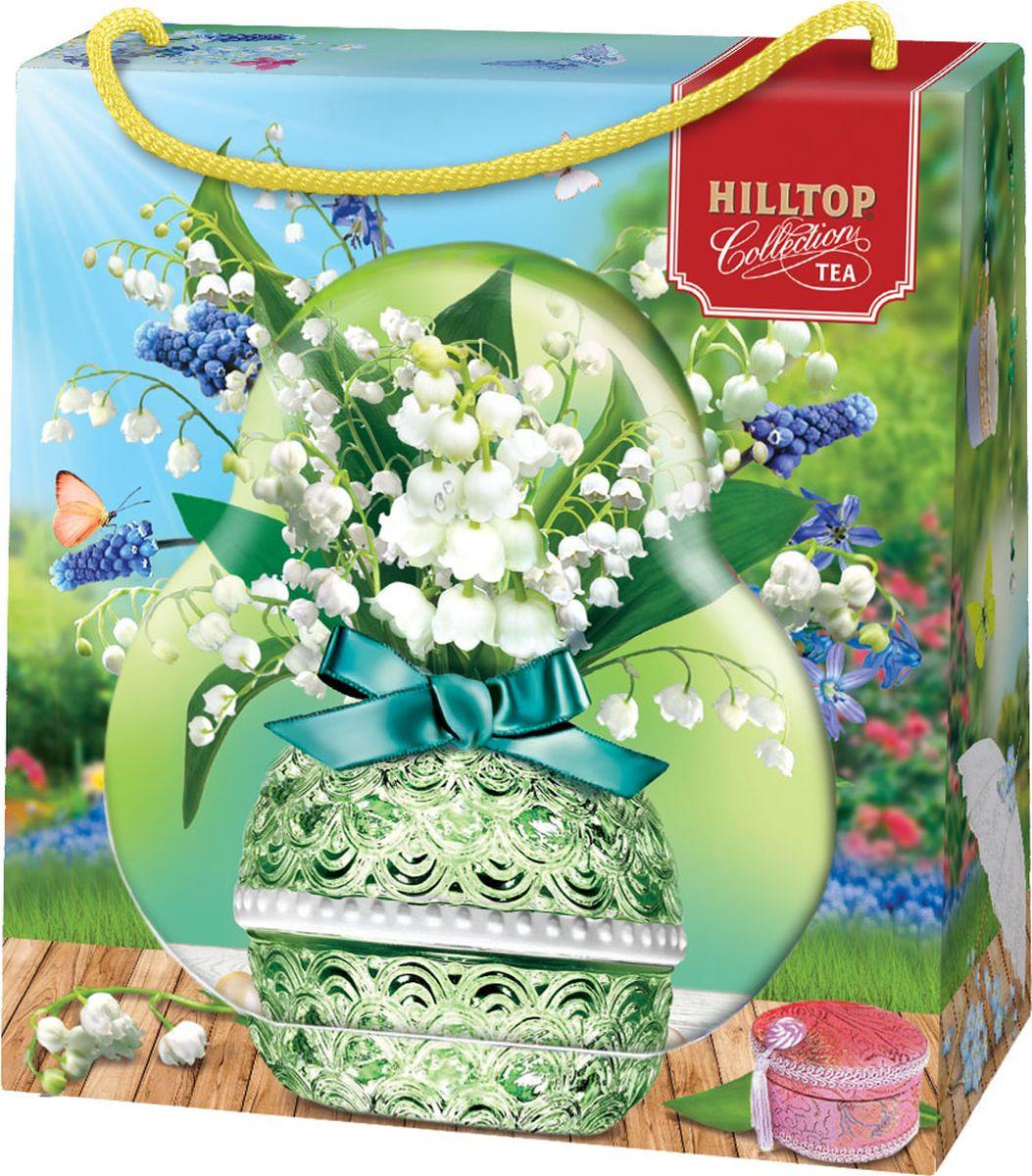 Подарочный чайный набор Hilltop Королевское золото Весенний сюрприз Фантазия, в футляре Ландыш, 50 г hilltop новогодние подарки чайный набор