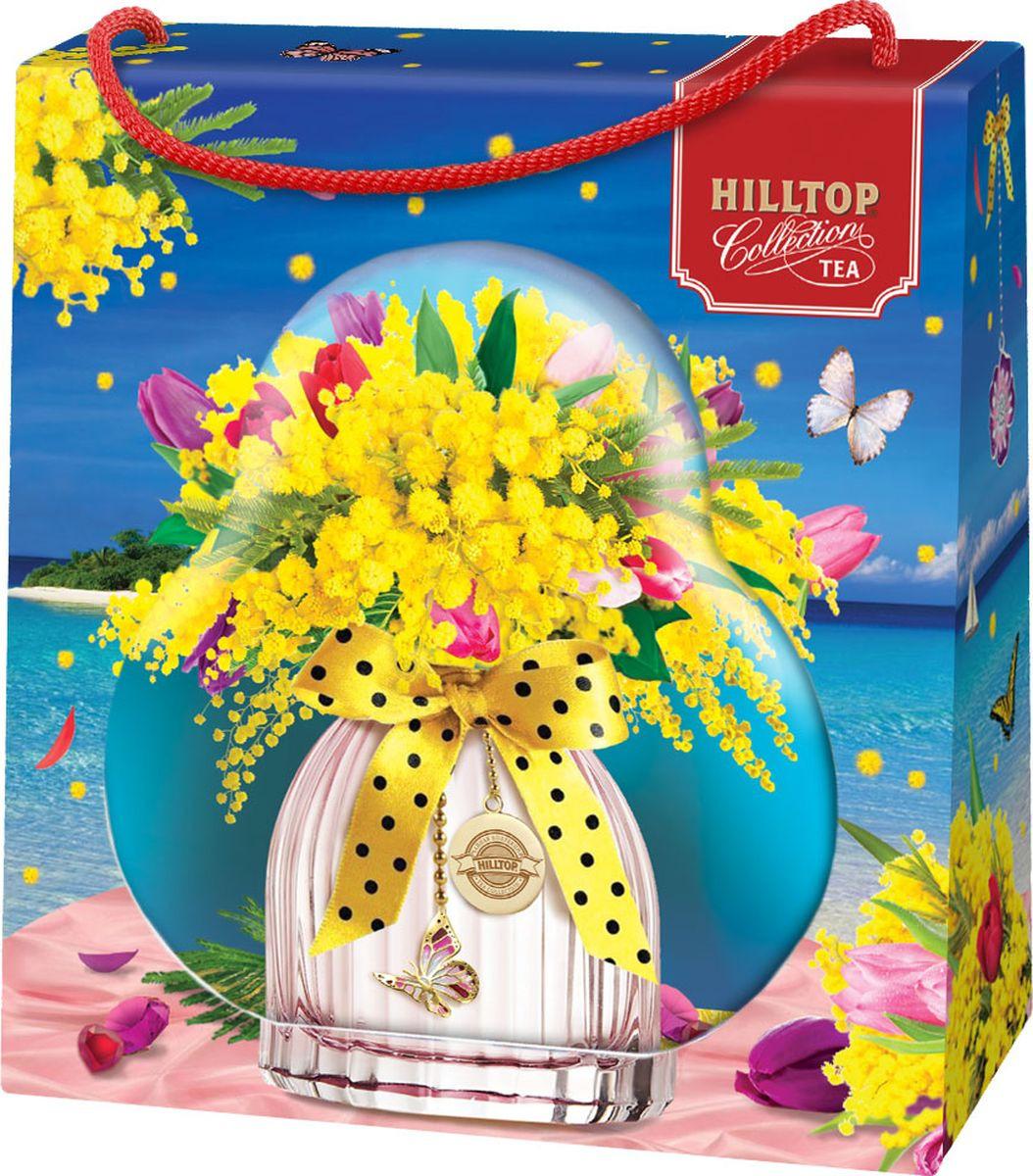 Подарочный чайный набор Hilltop Эрл Грей Весенний сюрприз Фантазия, в футляре Мимоза, 50 г hilltop новогодние подарки чайный набор