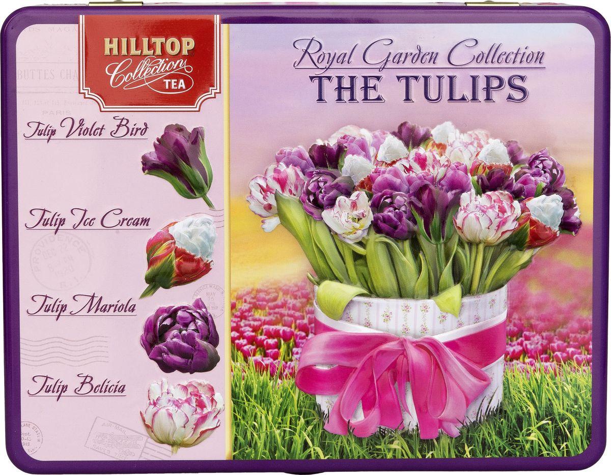 Фото - Подарочный чайный набор Hilltop Шкатулка Королевская коллекция Цейлонский чай, 50 г + Чай с чабрецом, 50 г + 1001 ночь, 50 г + Жасминовый, 50 г hilltop романтический пейзаж подарочный набор 3 шт по 50 г
