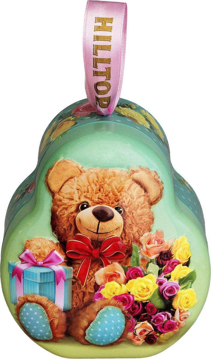Подарочный чайный набор Hilltop Эрл Грей Весенний сюрприз Фантазия, в футляре Мишка, 50 г hilltop новогодние подарки чайный набор