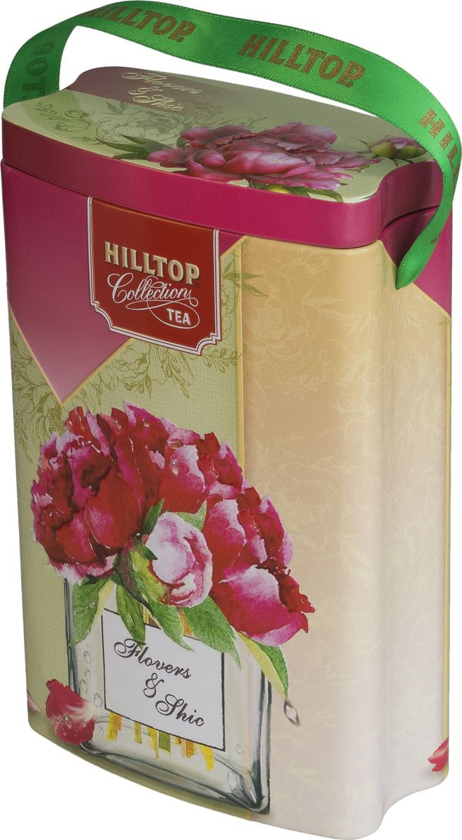 Подарочный чайный набор Hilltop Королевское золото Весеннее настроение, банка-пакет Пионы, 125 г hilltop новогодние подарки чайный набор