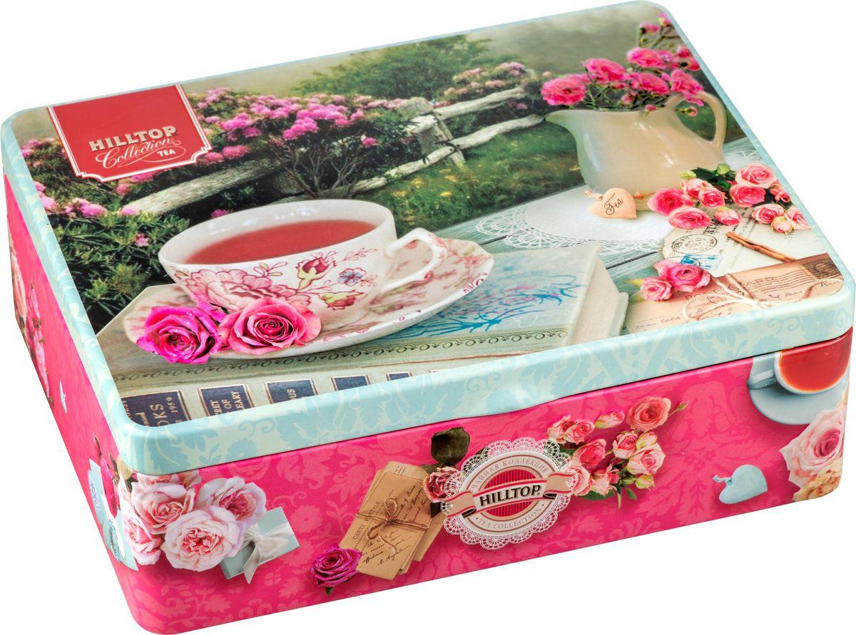 Фото - Подарочный чайный набор Hilltop Шкатулка Английское чаепитие Подарок Цейлона, 50 г + Вальс цветов, 50 г + Жасминовый, 50 г + Эрл Грей, 50 г hilltop романтический пейзаж подарочный набор 3 шт по 50 г