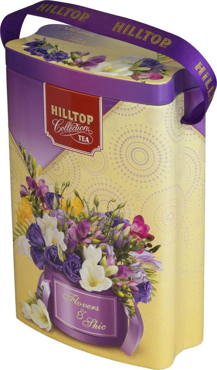 Подарочный чайный набор Hilltop Королевское золото Весеннее настроение, банка-пакет Фрезии, 125 г hilltop новогодние подарки чайный набор