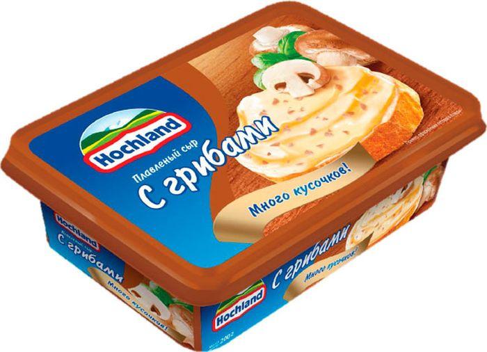 Плавленый сыр Hochland С грибами, 200 г