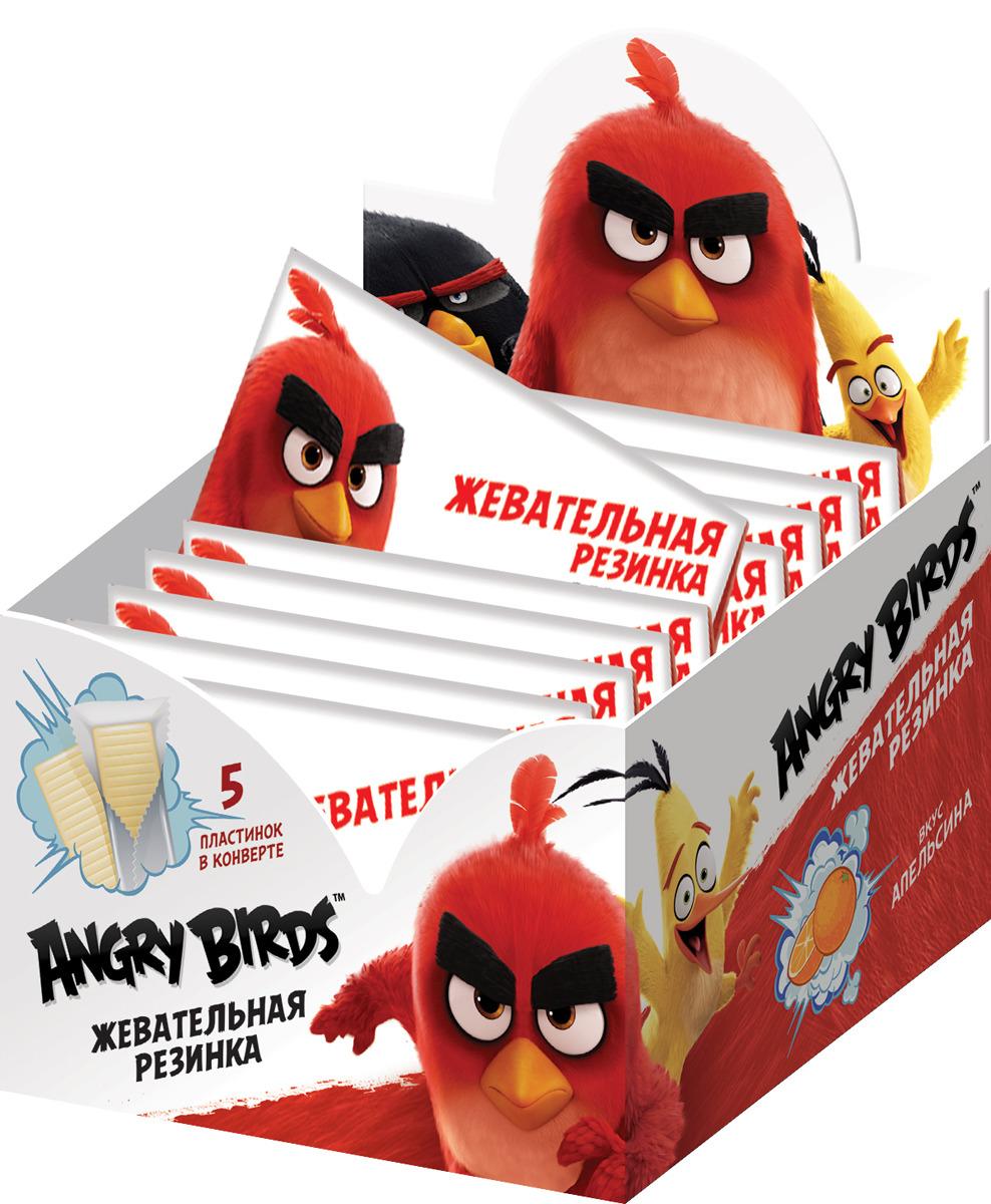 Жевательная резинка Конфитрейд Angry Birds Movie, со вкусом апельсина, 20 шт по 11 г жевательная резинка конфитрейд trolls вкусношарик с начинкой 100 шт по 4 г
