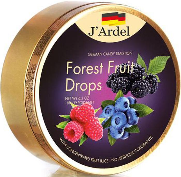 Леденцы J'Ardel, со вкусом лесных ягод, 180 г