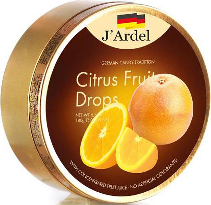 Леденцы J'Ardel, со вкусом цитрусовых фруктов, 180 г