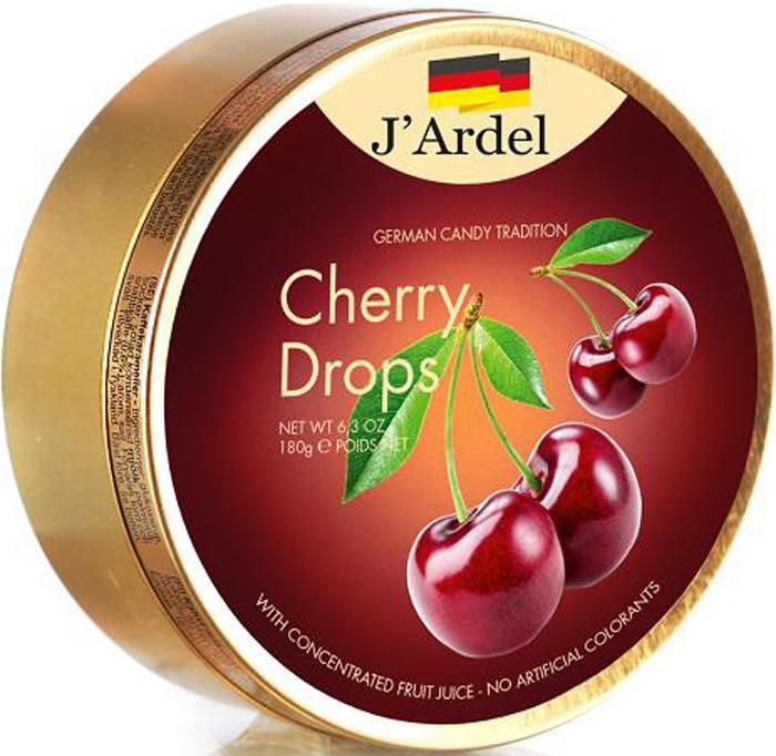 Фото - Леденцы J'Ardel, со вкусом вишни, 180 г fritt жевательные конфеты со вкусом вишни с витамином с 70 г