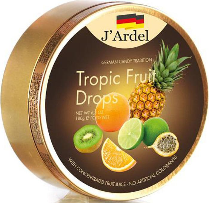 Леденцы J'Ardel, со вкусом тропических фруктов, 180 г леденец chupa chups b pop со вкусом тропических фруктов 45 шт по 15 г