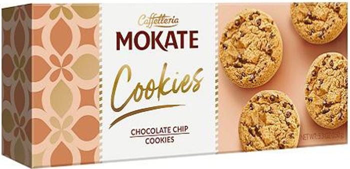Печенье Mokate Сдобное, песочное, с кусочками темного шоколада, 150 г частная галерея финское печенье с клюквой и кусочками белого шоколада 150 г