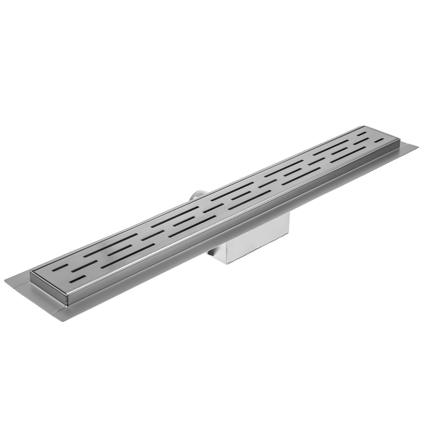 Трап для ванной комнаты ORE Drain H, серый металлик, серебристый цена
