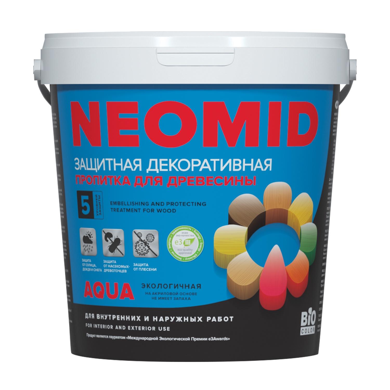 цена на Защитная лазурь Neomid BiO COLOR Aqua, белый, 0,9л
