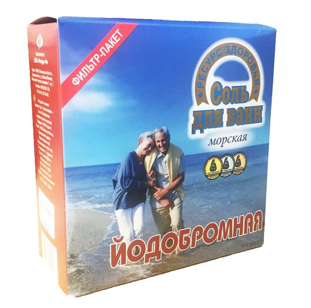 Соль для ванны ТМ Ресурс Здоровья Йодобромная, 1000г