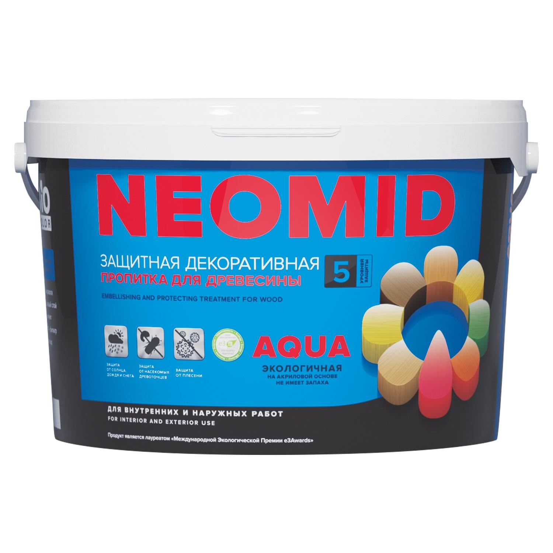 цена на Защитная лазурь Neomid BiO COLOR Aqua,голубая ель, 9л
