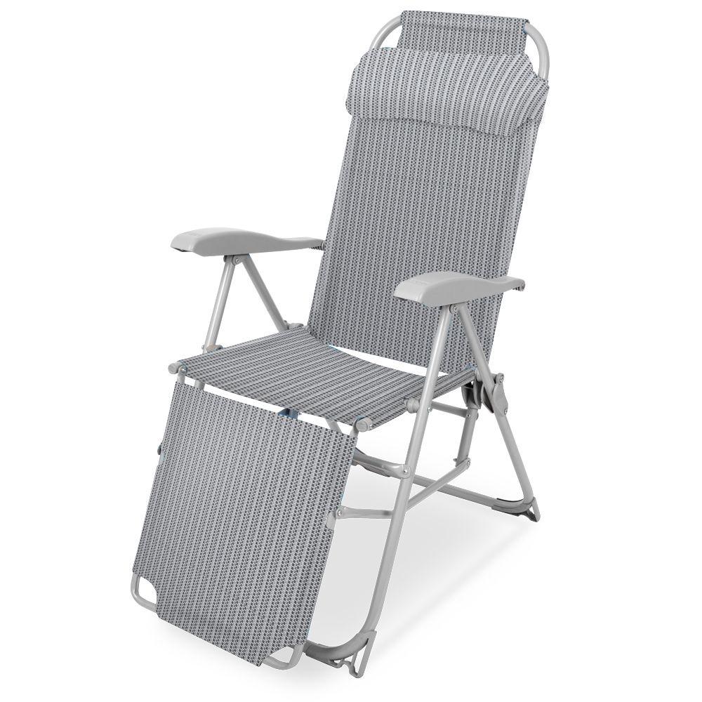 <b>Кресло</b>-<b>шезлонг Ника КШ3</b>, <b>КШ3</b> муссон, серый — купить в ...