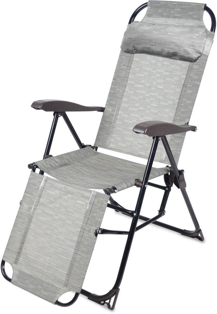 Кресло-шезлонг Ника КШ3, КШ3 бамбук, серый