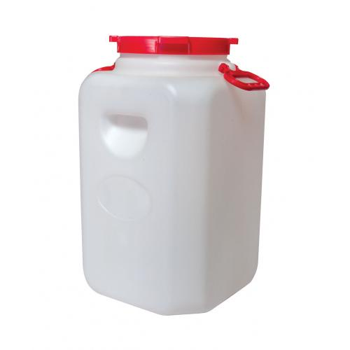 Канистра для воды Альтернатива Бочка канистра пластиковая пищевая 50 литров, белый