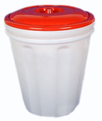 Канистра для воды Альтернатива Бак с крышкой пластиковый, 00060, белый