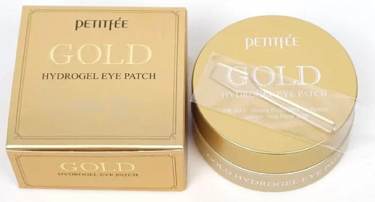 Гидрогелевые патчи Petitfee для области вокруг глаз с коллоидным золотом 60 шт