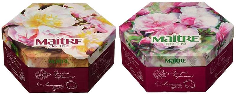 Чай в пакетиках Maitre de The Цветы, ассорти, 12 шт по 10 г teacher клубника со сливками зеленый чай премиум 500 г