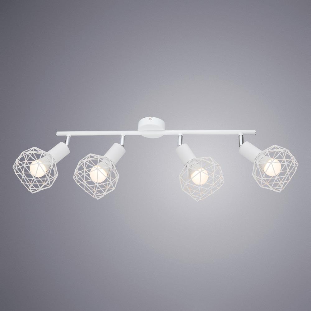 Потолочный светильник Arte Lamp Sospiro, A6141PL-4WH, белыйA6141PL-4WHПотолочный светильник итальянской компании Arte Lamp, выполнен в стиле Современный. Основной материал светильника - Металл. Типом крепления осветительного прибора является Потолочное. Предусмотрено использование ламп типа Лампа Накаливания, с цоколем E14. Количество ламп - 4. Мощность ламп - до 40 Ватт. Конструкция и степень пылевлагозащищенности прибора позволяют использование в жилых помещениях. Рекомендуем!