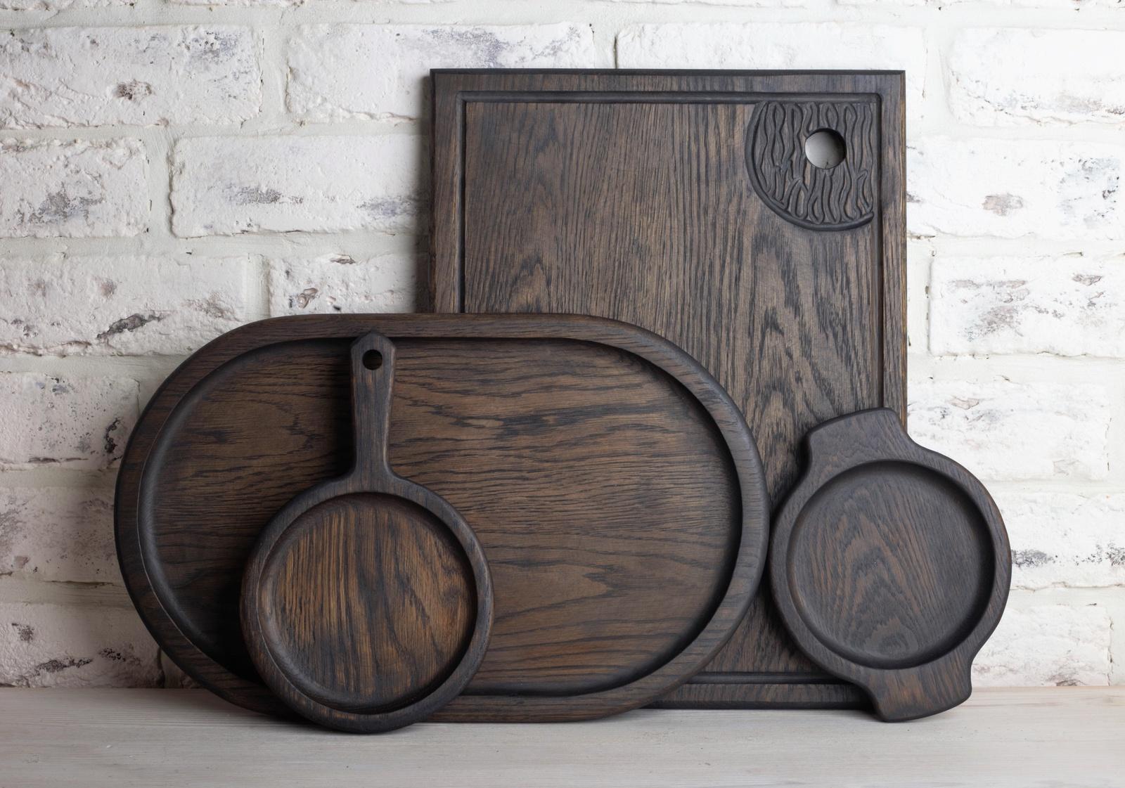 Кухонный набор Foxwoodrus Большой набор для кухни из темного дуба, черный 4 ножки для кровати из дуба gérémi