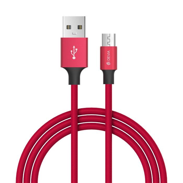 Кабель Devia Micro-USB для Android Pheez Series 1 метр - Красный все цены