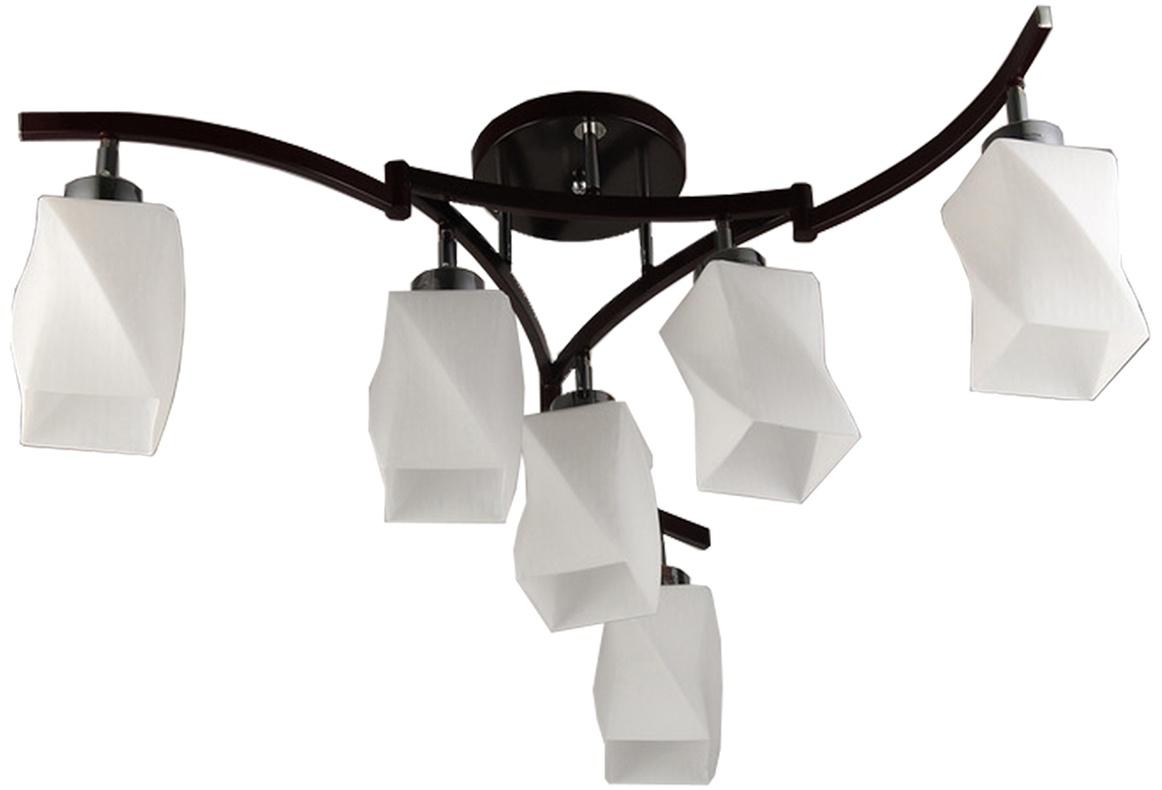 Подвесной светильник Toscom Vivid, TC-100-106TC-100-106Элегантная модель этого светильника, который выпускается под брендом Toscom, относится к серии изделий – Vivid. Современный стиль светильника идеально подойдет для спальни, но также отлично будет смотреться и в других комнатах квартиры и дома. Люстру потолочную Vivid 6xE27x60Вт Toscom TC-100-106 можно крепить как на простом, так и на натяжном потолке, значительно разнообразив варианты декора комнат с помощью этой модели светильника. Основные характеристики плафона:форма плафона – декоративный,основной цвет плафона – белый, материал плафона – стекло, поверхность плафона – матовая. Размер изделия в собранном виде (в см) : длина 86 ширина 86 высота 38