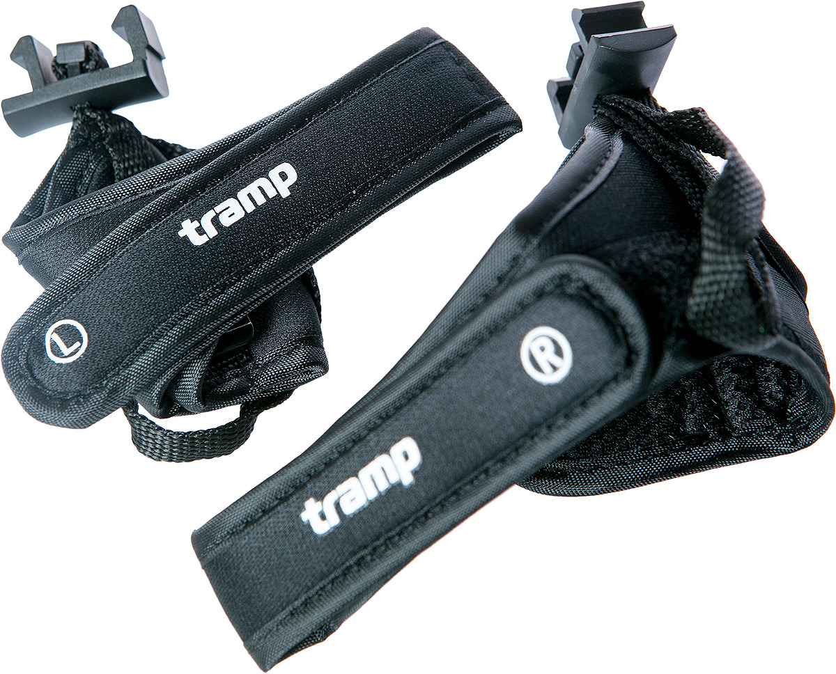 Темляки Tramp Fitness, TRA-114, черный, 2 штTRA-114Пара запасных темляков для трекинговых палок. Темляк предназначен для использования с палками для скандинавской ходьбы Tramp. Темляк изготовлен из полиэстера. Темляк для палок в виде петли надевается на кисть руки и служит для предотвращения потери треккинговой палки. Темляк воспринимает часть нагрузки, разгружая кисть руки.