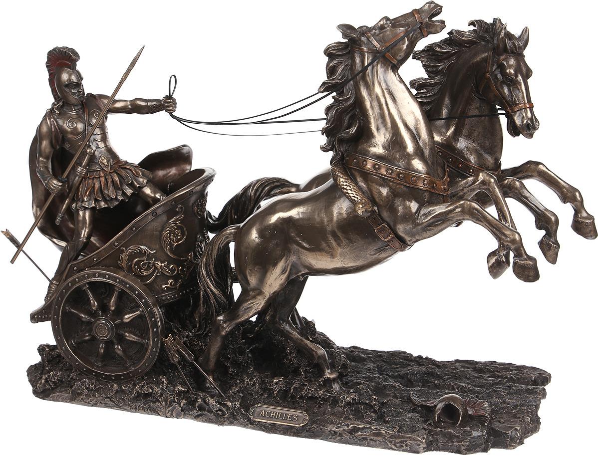 Статуэтка Русские Подарки Колесница Ахиллеса, 227619, 37 х 15 х 25 см елочная игрушка русские подарки карнавал 3 х 9 х 15 см