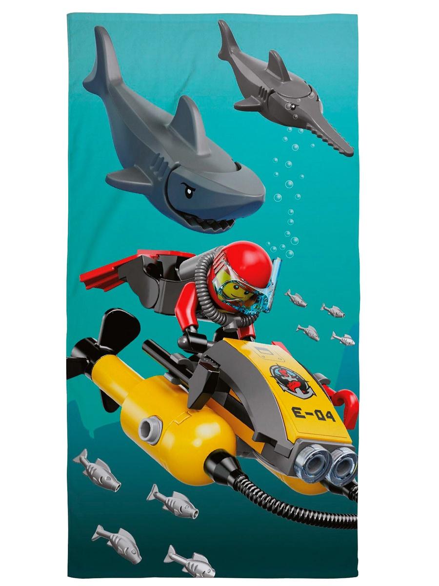 Полотенце детское Lego City Shark, Хлопок