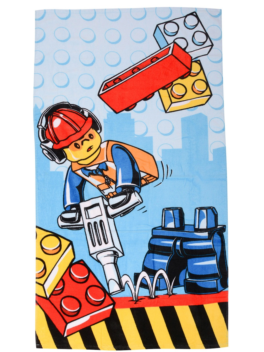 Полотенце детское Lego City Construction, ХлопокLG4CONTW004Полотенце LEGO City Construction обязательно понравится каждому ребенку и сделает ежедневную процедуру купания долгожданной, ведь на нем изображен любимые персонаж или тематика любимого конструктора.Полотенце быстро впитывает влагу. Мягкий материал не раздражает детскую кожу и очень приятен на ощупь. Полотенце идеально подойдет как для ванной, так и для бассейна или пляжа.Оно позволит вашему малышу оставаться в тепле после выхода из воды, защитит от сквозняков. Полотенце быстро сохнет и сохраняет первоначальный вид даже после многочисленных стирок.Размер полотенца: 70x140 см.