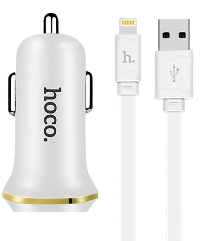 Автомобильное зарядное устройство Hoco Z1, белый