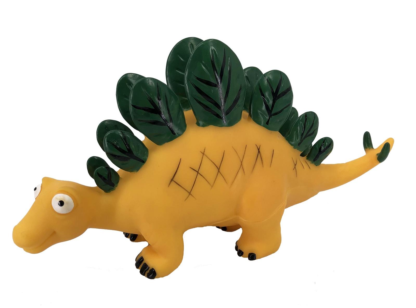 Фигурка АБВГДЕЙКА Динозавр Стегозавр Бэби, PE0025, 24 см желтый, зеленый