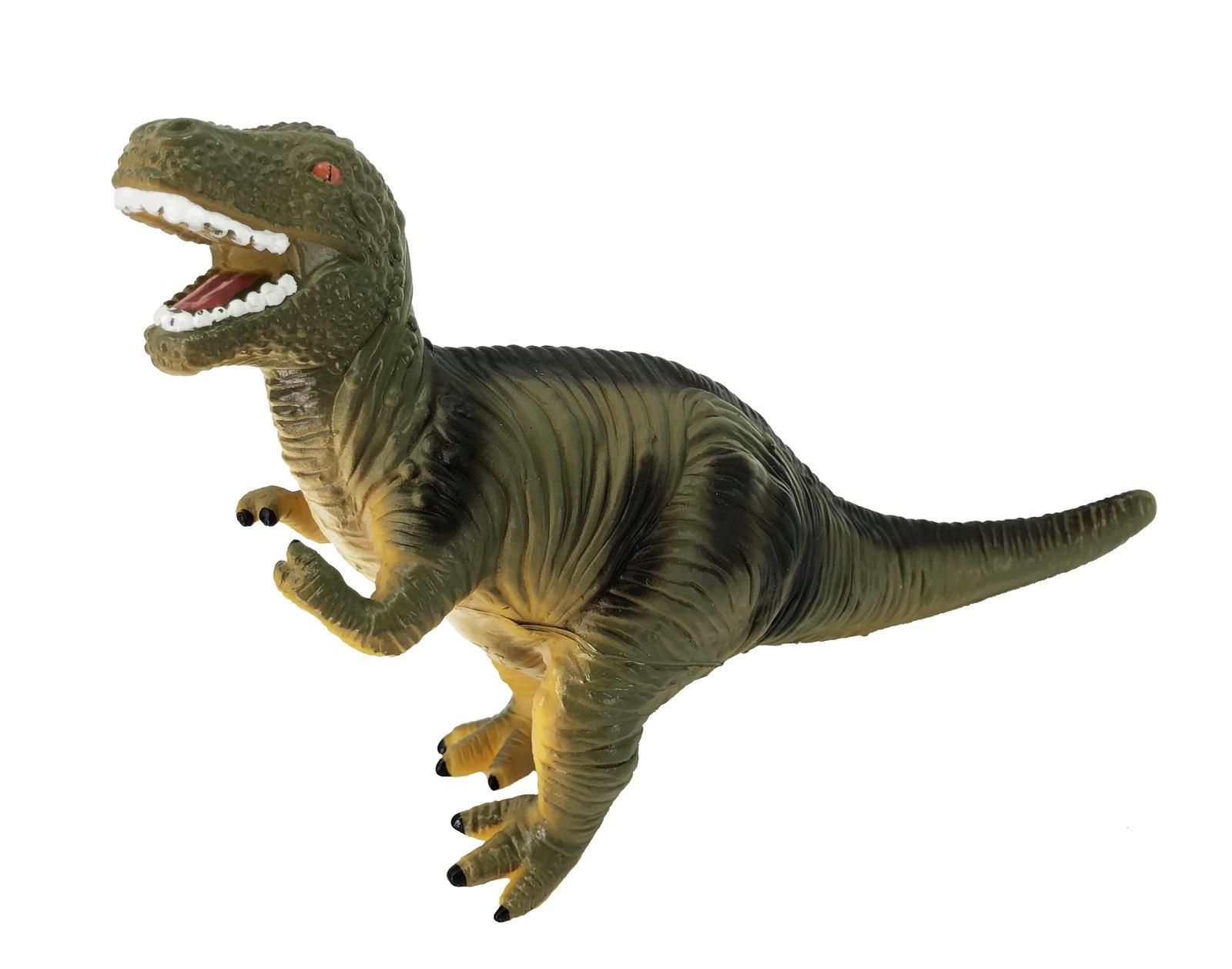 Фигурка АБВГДЕЙКА Динозавр Тиранозавр Рекс, PE0001, 21,5 см зеленый