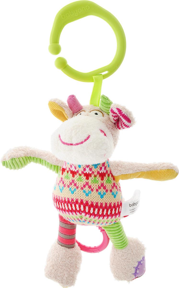 BabyOno Музыкальная игрушка-подвеска Коровка babyono музыкальная игрушка подвеска коровка