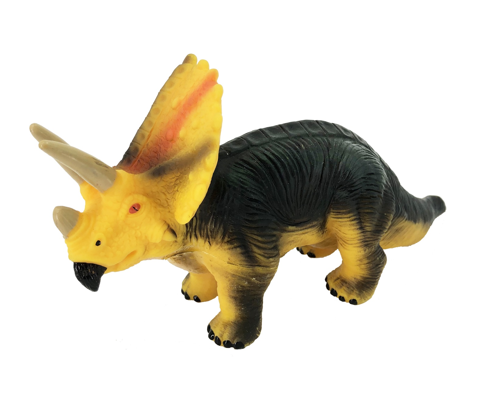Фигурка АБВГДЕЙКА Динозавр Трицератопс желтый