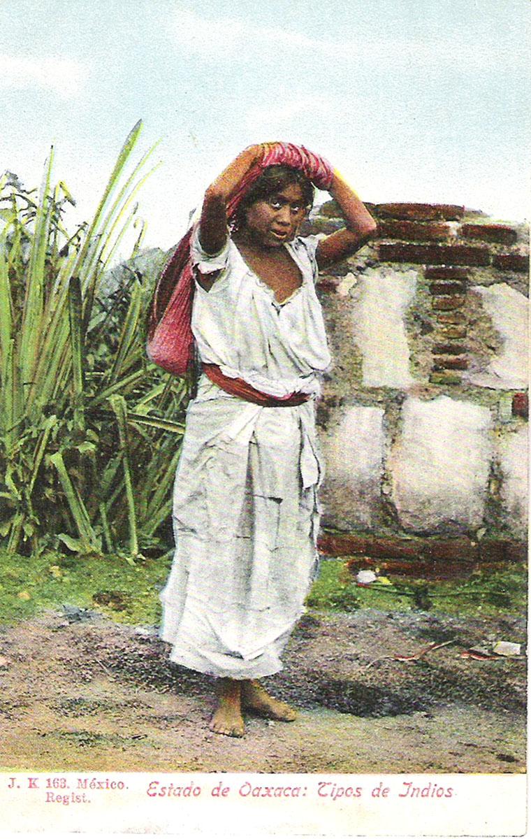 Почтовая открытка Estado de Oaxaca: Tipos de Indios. #163. Мексика, начало ХХ века почтовая открытка palacio nacional 15 мексика начало хх века