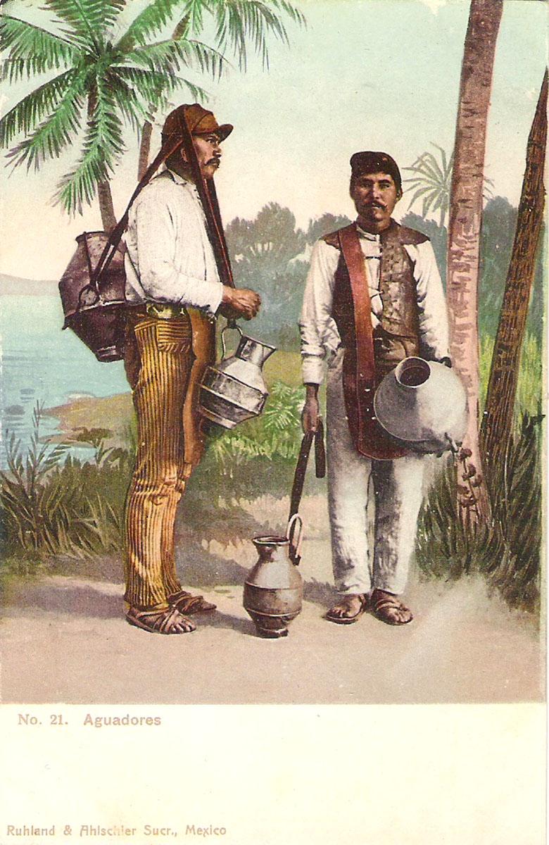 Почтовая открытка Aguadores. #21. Мексика, начало ХХ века почтовая открытка palacio nacional 15 мексика начало хх века