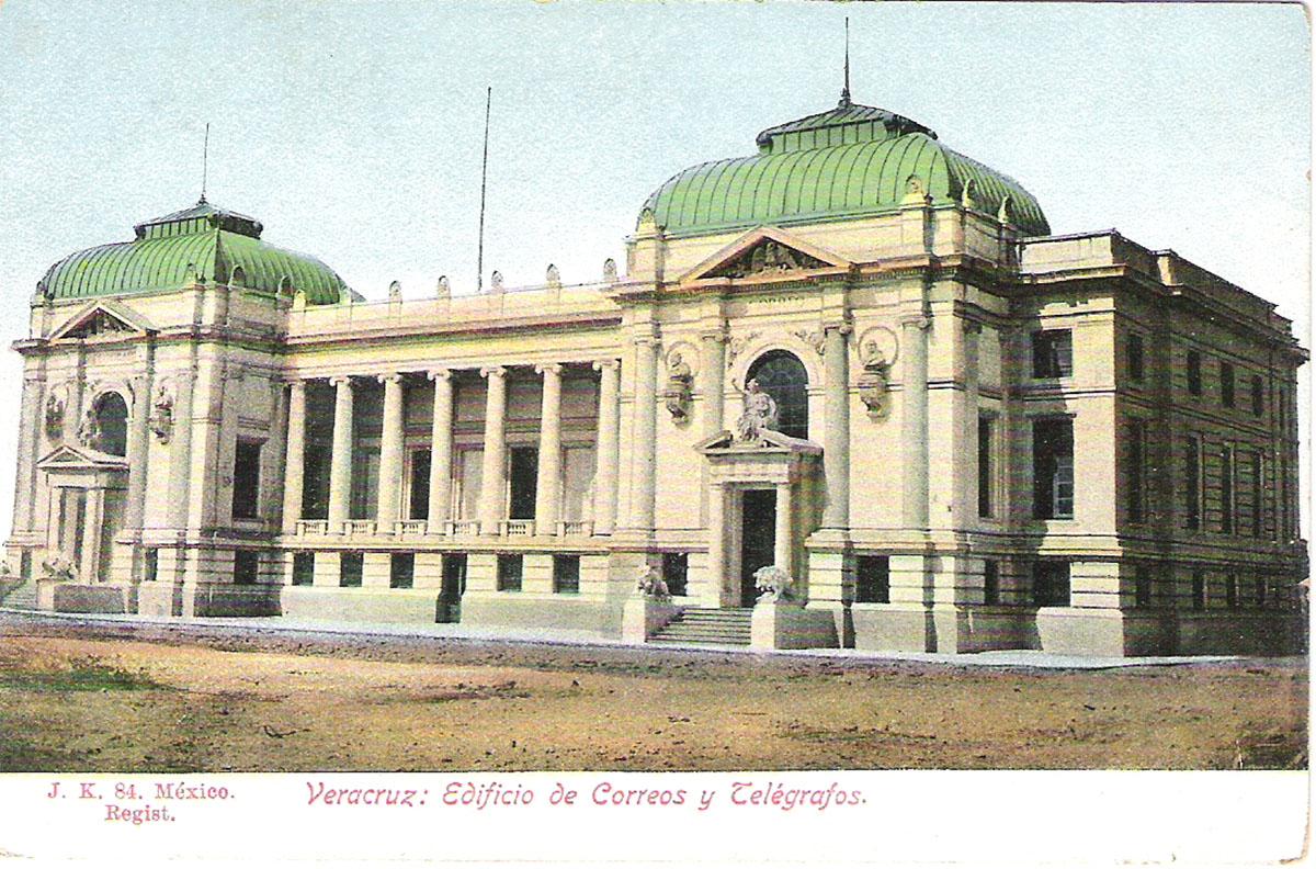 Почтовая открытка Verazcruz: Edificio de Correos y Telegrafos. #84. Мексика, начало ХХ века почтовая открытка palacio nacional 15 мексика начало хх века