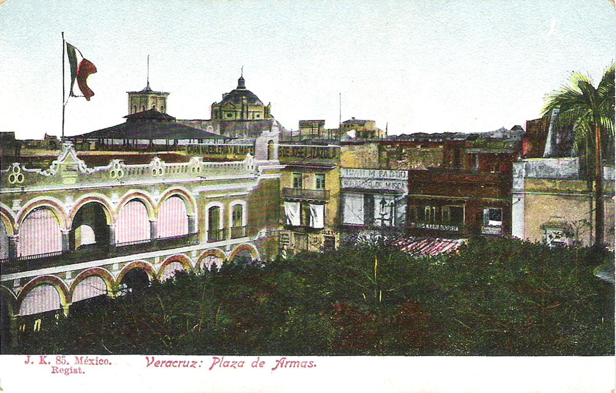 Почтовая открытка Verazcruz: Plaza de Armas. #85. Мексика, начало ХХ века почтовая открытка palacio nacional 15 мексика начало хх века