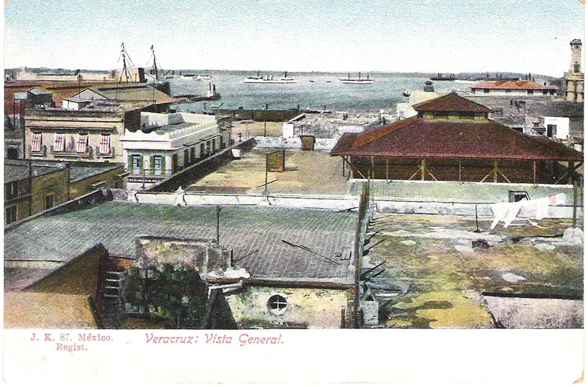 Почтовая открытка Verazcruz: Vista General. #87. Мексика, начало ХХ века почтовая открытка palacio nacional 15 мексика начало хх века